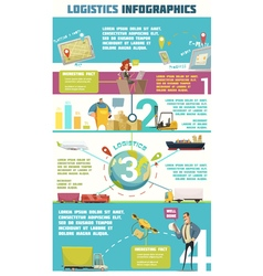 Logistics Infographic Set vector image