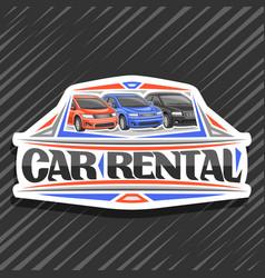 Logo for car rental vector