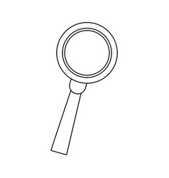 Magnifying glass loupe handle search tool research vector