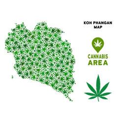 Marijuana composition koh phangan thai vector