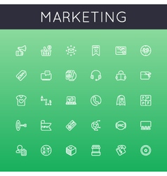 Marketing Line Icons vector image