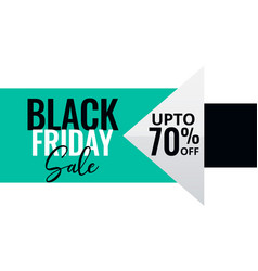 Minimal style black friday sale banner vector