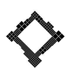 Modern minimal abstract diagonal square border vector