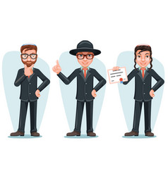 modern orthodox smart casual young israel vector image