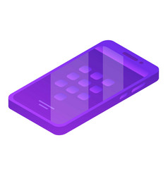 Modern violet smartphone icon isometric style vector
