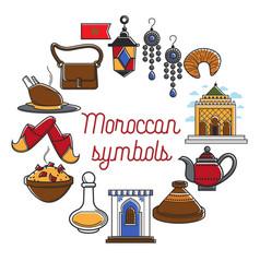Morocco travel agency promo informative poster vector