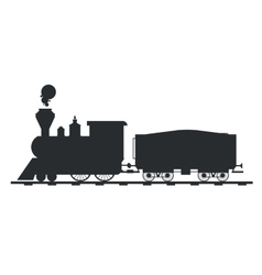 Old vintage retro transportation train vector