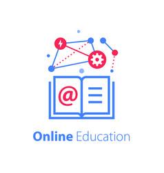 online education open book internet resources vector image