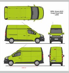 Opel vivaro cargo panel van l2h2 2015 vector