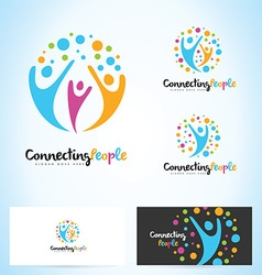 People Logo Design vector image