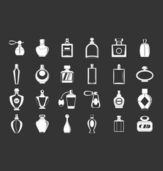 Perfume icon set grey vector