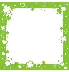 Saint Patricks decorative frame vector image