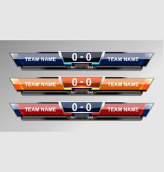 Scoreboard sport elements design vector