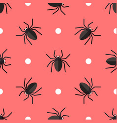 seamless pattern with spiders and circles vector image