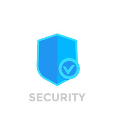 Shield with check mark security icon vector