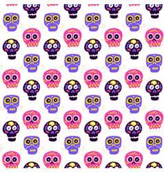 skull dia de los muertos seamless pattern vector image