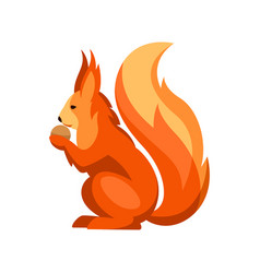 stylized of squirrel woodland forest vector image