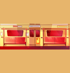 Subway train interior seamless vector