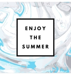 summer hipster marble background vector image