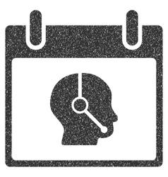 Telemarketing Operator Calendar Day Grainy Texture vector