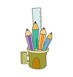 The pencil case vector