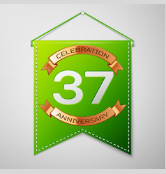 Thirty seven years anniversary celebration design vector