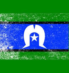 Torres strait islander grunge flag vector