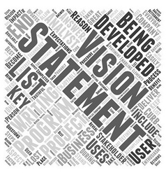 Writing a vision statement word cloud concept vector
