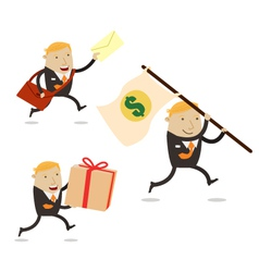Delivery businessman vector image vector image