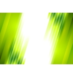 Green blurred stripes bright corporate background vector image