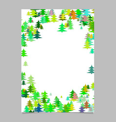 pine tree pattern presentation template - blank vector image vector image