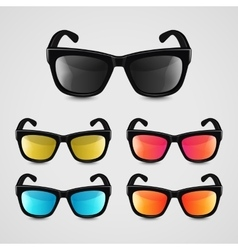 Set of realistic sunglasses vector image vector image