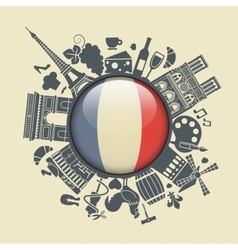 Symbol of France vector image