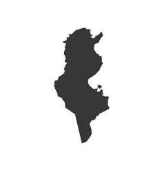 tunisia map silhouette vector image vector image