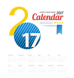2017 calendar Happy New Year background Greeting vector image vector image