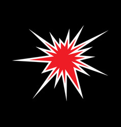 abstract star red and white icon vector image