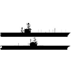 aircraft carrier silhouettes vector image vector image