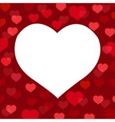 love heart card vector image