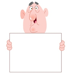 old man with sign vector image vector image