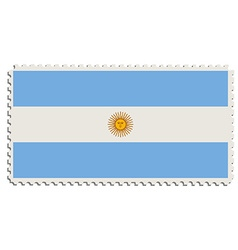 Argentinian flag stamp vector image vector image