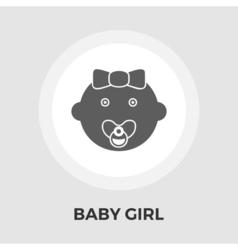 Baby girl flat icon vector