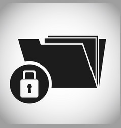 folder files padlock protection data vector image vector image