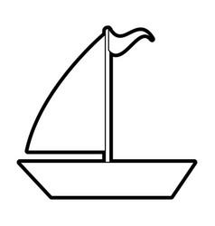 sailboat vector image vector image