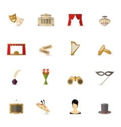 Theatre Icon Flat vector image vector image