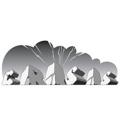 Alphabet made of stone single word Crisis vector image