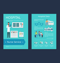 Hospital data nurse service vector