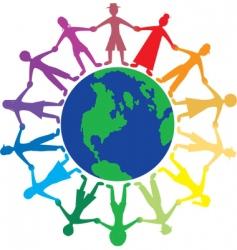 people world vector image