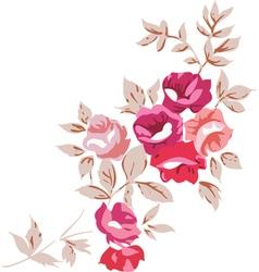Vintage Romantic Roses vector image
