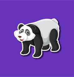 a panda sticker character vector image