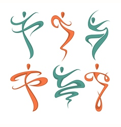abstract dancing vector image